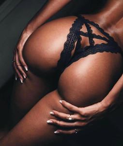 Le donne del merletto sexy della cinghia Underwear slip Culotte Intimo G-stringa Mutandine