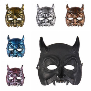 Máscaras Halloween Demônio Festive Party Supplies Máscara Início Plastic Halloween Party máscaras de horror Partido Demonstrar 6 estilos LXL557-1