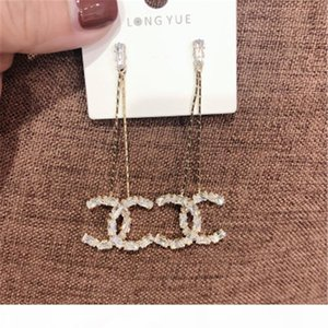 New European And American Style Long Section Fragrance Earrings Temperament Designer Silver Needle Earrings Sell Well Wholesale