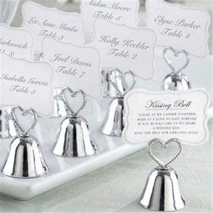 Kissing Bell Silver Bell Place Card Holder Photo Holder Wedding Table Decoration Guest Favors for Wedding