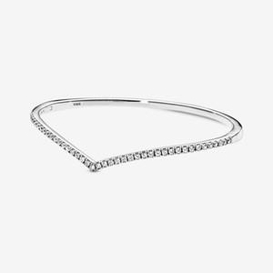 Kadınların hediyeler ücretsiz gönderim için yeni varış yüksek cila% 100 925 gümüş Köpüklü Wishbone Bileklik moda takı yapımı