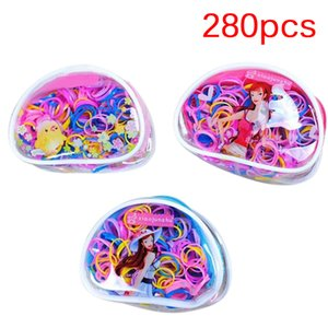 1Pack 240 280Pcs Children Candy Color Tie Elastic Hair Rope Baby Girls Strong Pull Rubber Band