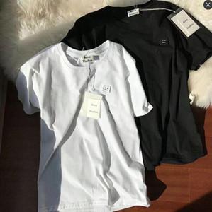 Cuello redondo manga nueva marca de lujo ACNE camiseta corta tee transpirable hombres y mujeres amantes de la moda urbana al aire libre desinger AC camisetas