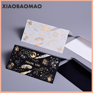 5pcs bronzing feather Valentine's Day greeting card envelope Girlfriend boyfriend lover gift thanks birthday party supplies