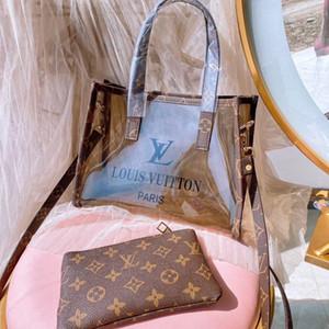 حقيبتان من حقيبة تسوق جيلي بيغ بيتش طبعتا نساء فاخرة ذات جودة عالية حقيبة شحن مجانية 041929