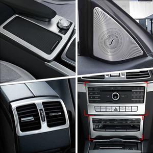 Автомобиль Внутренней дверь Стереодинамика Gearshift панель дверь подлокотник крышка Обрезка наклейка для Mercedes Benz E Class Coupe W207 C207 Автоаксессуаров