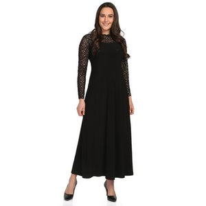 Large Size Women's Long Sleeve Lace Dress Black Pianola by 1239 Ship 926 from Turkey