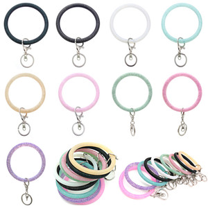 Clé de poignet en silicone Bague de mode bracelet bracelet de mode Sports Keychain Bracelets Bracelet Round Key Anneaux Grand O Joli Bijoux KeyRing M969