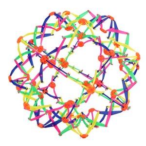 palla giocattolo adulto telescopico Bambino divertente Espansione Sfera Mini sfera Kids Toy dell'arcobaleno Colorful Flower Magic Ball