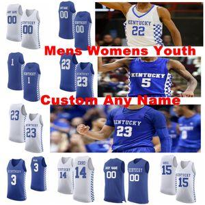 Kentucky Wildcats jerseys para hombre Sestina Nate Jersey Whitney Richards Kahlil Nick Jr Keion Brennan NCCA jerseys del baloncesto cosido personalizada