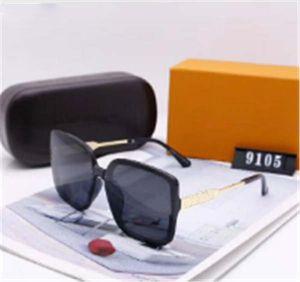 Marca delle donne degli uomini degli occhiali da sole della plancia Struttura in metallo cerniera occhiali da sole lente in vetro di gatto dell'occhio UV400 Goggle con vendita al dettaglio e l'etichetta