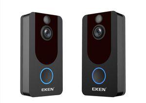 2020-EKEN V7 HD 1080P Smart Home Video Doorbell Camera Wireless Wifi Real-Time Phone Video Cloud storage Night Vision PIR Motion Detection