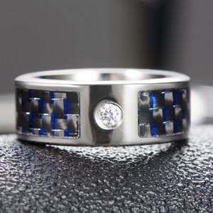 Wholesale Smart Rings Digital Fashion Smart Accessory Control Intelligent Finger NFC Smart Ring Women Men Blue Carbon Fiber