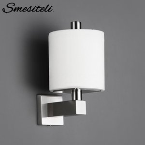 Smesiteli Bathroom Stainless Steel Paper Towel Holder Erected Hanging Kitchen Cloth Roll Toilet Paper Holder With Coverplinth T200425