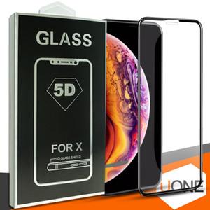 5d الزجاج المقسى غطاء كامل الزجاج المنحني ل new فون xr xs ماكس غطاء كامل فيلم 3d حافة حامي الشاشة ل iphone6 6 ثانية 7 8 زائد