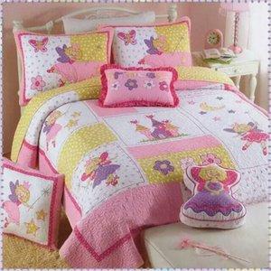 Juego de ropa de cama para niños Edredón acolchado de primavera y otoño, edredón de dos piezas por juego 100% tela de algodón 173x218cm + 50x70cm