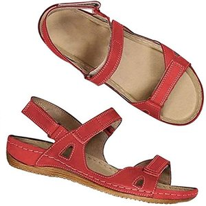Art und Weise Frauen Sandalen Sommer Wohnungen reizvolle Knöchel-hohe Stiefel Gladiator Sandalen Frauen-beiläufige Ebene-Schuh-Designer Ladies Beach römische Sandalen