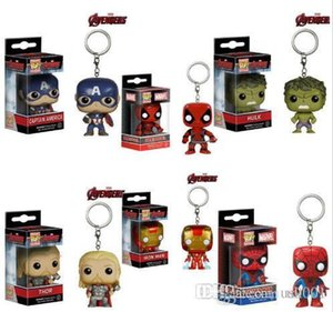 Funko POP Marvel Super Hero figura de acción llavero Deadpool Harry Potter Goku Spiderman Joker Juego de tronos juguete llaveros