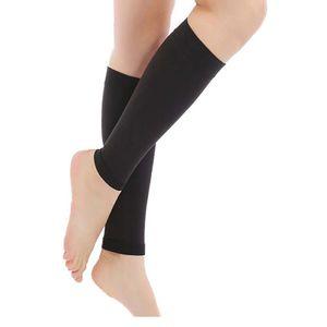 1 زوج الجوارب الساق في الهواء الطلق ضغط الرياضة الدورة الدموية كم دعم الساق العجل مرونة تخفيف تخزين الوريد varicose tbose