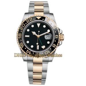 Seramik Bezel Erkek Saatler Glide Kilit toka Jubilee Band Otomatik İzle 126710BLRO-0001 GMT Mekanik Paslanmaz Çelik saatı Usta