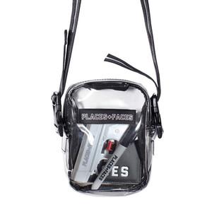 YERLER + Messenger Çanta Şeffaf Hip Hop Unisex Fanny Paketi Erkekler Kadınlar Stilist Bel Çantası PVC Çapraz Omuz Kemeri Çanta YÜZLER