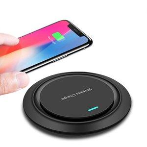 10 Вт Qi беспроводное зарядное устройство для iP X Xs XR 8 плюс быстрая зарядка для Samsung S8 S9 Примечание 9 USB телефон зарядное устройство Pad