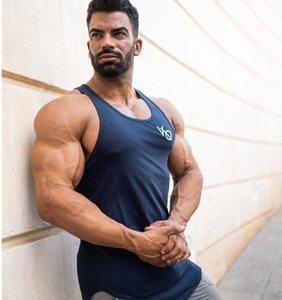 근육 스포츠 VO 조끼 남성 디자이너 티셔츠 빠른 건조 활성 민소매 피트니스 Tshirt 남성 스포츠 탱크 탑 사이즈 M-3XL 도매