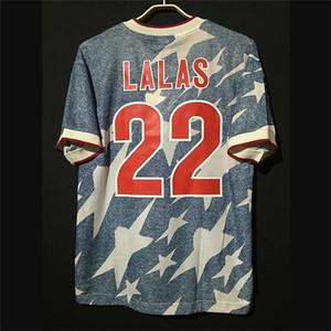 Retro USA 1994 maglie calcio Lalas Reyna annata Stati Uniti Football Camiseta camicia classica Kit Tops