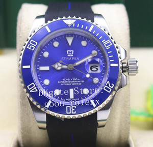Top Mens Ásia Automatic 2813 Cerâmica Bezel Sapphire Luminosa Assista Homens 116619LB Borracha Strap Sub Dive 116610 Esporte 116619 Relógios Perpétuos