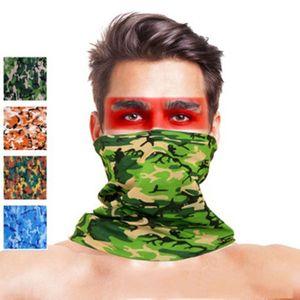 21 estilo da camuflagem de poliéster lenços Rosto Máscara de poeira exterior Desporto Cycling Bandanas Camping Caminhadas washouts Headwear mágico Scarf