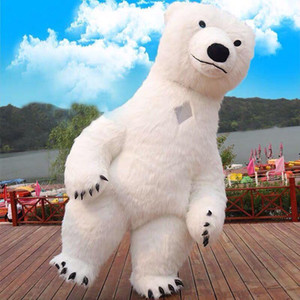 Funny Inflatable Costume Polar Bear Mascot Costume Theme Park Opening Ceremony Cute Christmas Mascots Custom Mascots Deguisement Mascotte