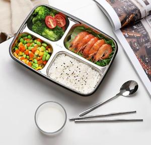 Bento Lunch boxes Lattice Lunch Box in acciaio inossidabile di plastica 1200ml cucina contenitore di alimento per i bambini riscaldata Pranzo Caso GGA3226-2