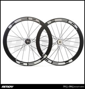 700C 탄소 트랙 자전거 바퀴 50mm의 HED 그림 클린 처 관은 플립 플롭 기어 단일 속도 자전거 바퀴를 고정