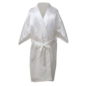 2019 Bathrobe for Children Satin Children Summer Kimono Bath Robes Bridesmaid Girl Dress Silk Child Nightgown Solid Robes