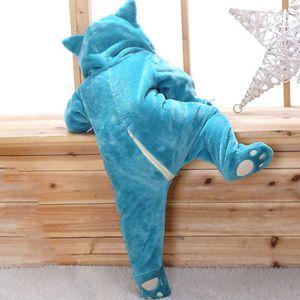 Snorlax Baby Body Baby Body Baby-nette Kleidung 0-2 Y neugeborener Jungen-Mädchen-Klgurumis Cartoon-lustiges Kostüm Pyjama weicher warmes Outfit Y200320