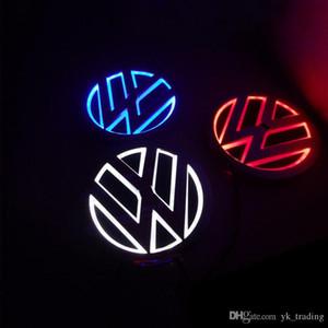 11 centímetros * 11 centímetros luz Emblem Car para VW Golf 6 Tiguan bora CC Scirocco Magotan emblema etiqueta LED luz 5D logotipo emblemas luz