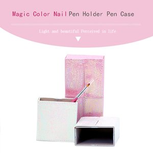 1Pcs Mermaid Fish Scale Nail Brush Holder Storage Case Bag Cosmetic Pen Organizer Makeup Manicure Nail Art Tool Accessory