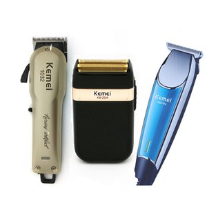 El corte Kemei profesional eléctrica cortadora de cabello recargable inalámbrica barbero máquina de afeitar pelo de la máquina de corte de pelo Peluquería