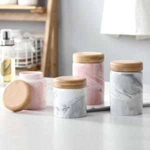 Haushalt Keramik Sealed Kreative Korntank Küche Aufbewahrungsbehälter Jar Kaffee Can Wood Cover Bottle Jar