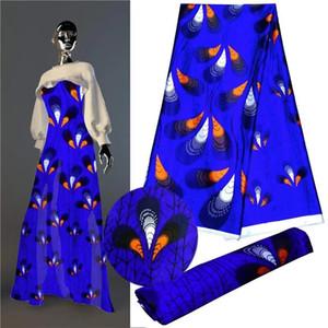 imité tissu en soie tissu imprimé numérique Nigerian Ankara modèle en cire africaine 5 yards satin de soie 1301