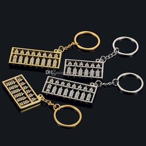 Yeni Abacus 6 dosyaları anahtarlık zinciri kolye moda aksesuar K586 abaküs metal anahtarlık Çin rüzgar altın gümüş abaküs 8 dosyaları anahtarlık