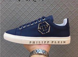 Мужская высококачественная кожа pp череп мужская повседневная обувь мужская спортивная обувь-707