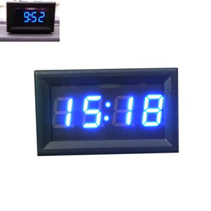 Automotive Electronic Relojes motocicleta del coche de 12V / 24V de visualización del panel de LED Reloj Digital J25 nave de descenso