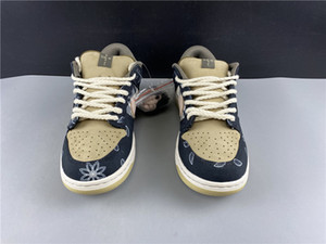 SB x Трэвис Скотт Dunk Low QS Cactus Kids youth junior мужские кроссовки hococal Athletic Sneaker Cactus Jack Trianers Sport Skateboarding