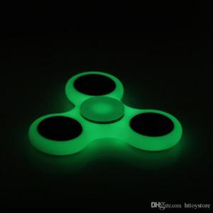 White Black Hand Spinner Fidget Toy Plastic EDC Hand Spinner For Autism and ADHD Finger Spinner
