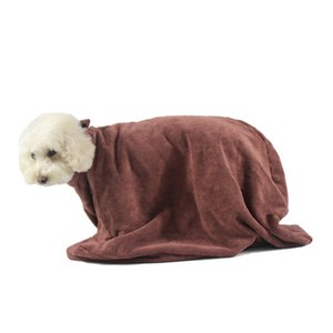 Dog Bathrobe Pet Special Bathrobe Polyester Bath Towel Super Absorbent Water Zipper Clasp Clean Drying Towel Dropshipping NEW