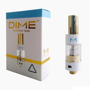 New DIME Vape Cartridges Packaging 0.8ml 1.0ml Ceramic Carts Thick Oil Empty Vape Cartridge Dime Atomizers
