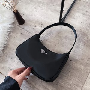 New Fashion Candy Color Moon Handbags for Women Simple Retro High Quality Nylon Baguette Bag Shoulder Bags for Women Handbag