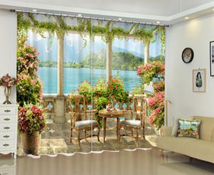 Beau paysage Chinois De Luxe 3D Blackout Fenêtre Rideaux drapé pour Salon Chambre Chambre Bureau Hôtel mur tapisserie Cortinas
