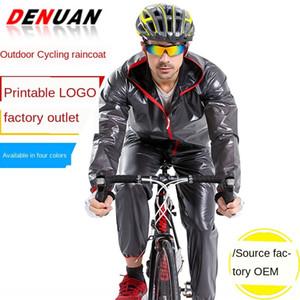 kapüşonlu panço bisiklet yağmurluk bisiklet Açık bölünmüş yağmurluk takım Cloak bisiklet yetişkin su geçirmez PVC dağcılık kar